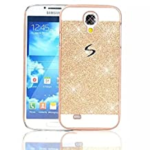 Samsung Galaxy S4 IV I9500 Phone Case,Vandot Luxury Bling Shinning Sparkling Design PC Hard Back Case Cover Ultra Slim Thin Perfect Fit Anti-Scratch Protective Skin Shell For Samsung Galaxy Grand Prime G530H G5308W-Gold