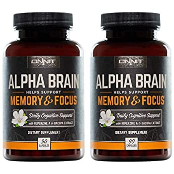 Image of Health and Household ONNIT Alpha Brain - Over 1 Million Bottles Sold - Premium Nootropic Brain Booster Supplement - Boost Focus, Concentration & Memory - Alpha GPC, L Thea
