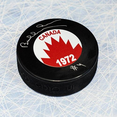 Autographed Bobby Orr Puck - Team Canada 1972 Summit Series - Autographed NHL Pucks Bobby Orr Autographed Puck