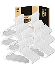 Utopia Home Plastic Standard Hangers for Clothes Heavy Duty and Space Saving Notched Hangers