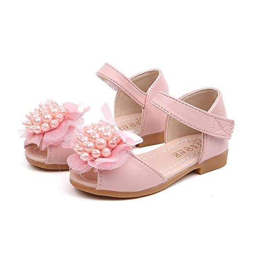 Mealeaf ❤ Toddler Infant Kids Baby Girls Peep Toe Lace Pearl Single Princess.  Roll over image to zoom in. ❤ Mealeaf ❤   Kid Shoes 8401e0115ad5