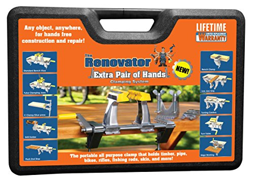 Extra Pair of Hands by Renovator - The World's Most Versatile, Portable, Patented Clamping System That Holds Your Work, So You Can Do Your Work by Renovator
