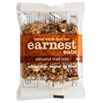 Earnest Eats Baked Whole Food Bar 9 HEALTHY SNACK:  These delicious bars are 100% natural wheat-free snacks packed with nutrition including, 6g of protein and 190 mg of omega-3s. ENERGY BAR PACKED WITH SUPERFOOD INGREDIENTS:   The vegan bar is made with whole nuts, fruits, seeds and grains, and rich roasted almond butter. 100% ALL-NATURAL: No spray-on vitamins, protein powders, corn, peanut or soy oils. And absolutely no ingredient lists with long compound words. We bake our energy bars in small batches and in real ovens for a soft, cookie-like texture. And we do all of this so that you can eat this healthy snack bar carefree.