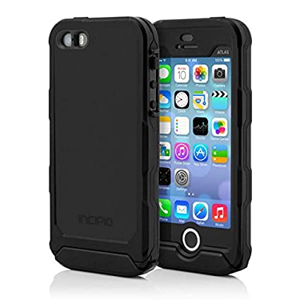 Incipo Apple iPhone 5/5S Atlas ID Waterproof Case - Retail Packaging - Black