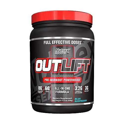 Nutrex Research Outlift Pre-Workout Supplement, Blue Raspber