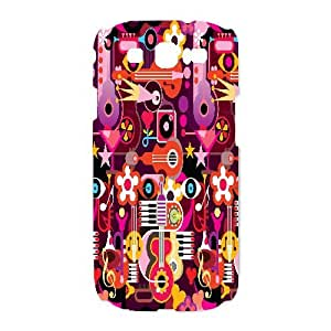 Love Music Pattern Art Print Nintendo 3DS XL Plastic Case Retro Musician,TPU Phone case for SamSung Galaxy S3 9300,white