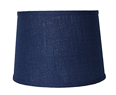 Urbanest Blue Burlap Drum Lampshade, Spider Fitter