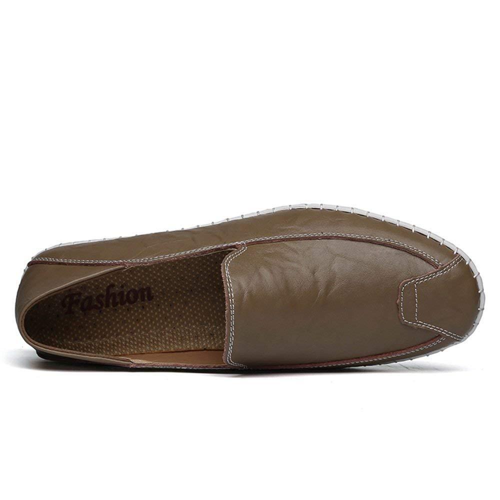 Herren Mokassins Schuhe, Mens Minimalismus Minimalismus Minimalismus Slip-on Loafers PU-Leder Volltonfarbe Fashion Driving Boat Mokassins Freizeitschuhe (Farbe   Blau, Größe   40 EU) (Farbe   Khaki, Größe   38 EU)  43633d