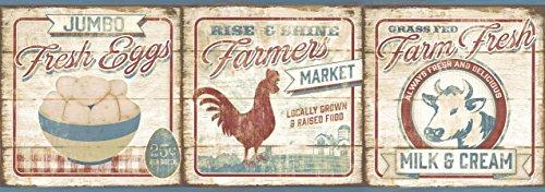 - Chesapeake CCB2261 Country Farmers Market Dark Red Border