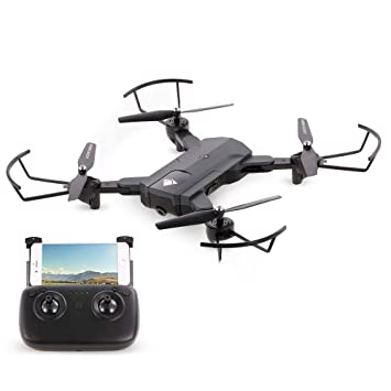 JHSHENGSHI Drone Plegable HD Camara, Gran Angular RC Quadcopter ...