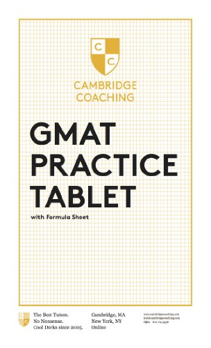 GMAT Practice Tablet with Formula Sheet & Markers! (Prime Eligible!)