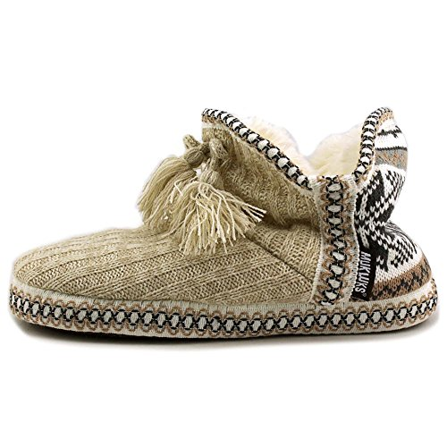 Pull On White Toe 16427 Winter Slippers Womens LUKS Muk Closed nqRXBX
