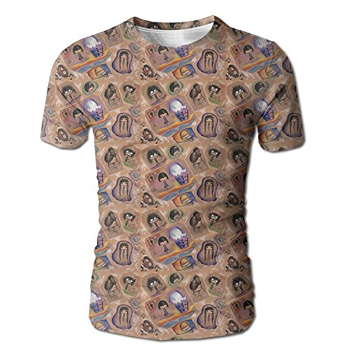 Men's Summer Cartoon Explosive Head Curl Casual Novelty Crew Neck Short Sleeve T Shirt Gift (Deadmau5 Mask Head)