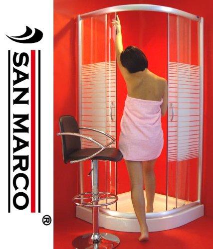 Cabina Doccia San Marco.San Marco Box Doccia 80x80 Semicircolare Serigrafato Amazon