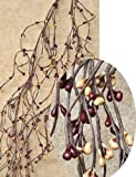 Pip Wrap Garland Burgundy & Old Gold Berries Country Primitive Floral Decor
