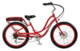 "Pedego Comfort Cruiser 26"" Step Thru Red with Black Balloon Package 36V 15Ah"