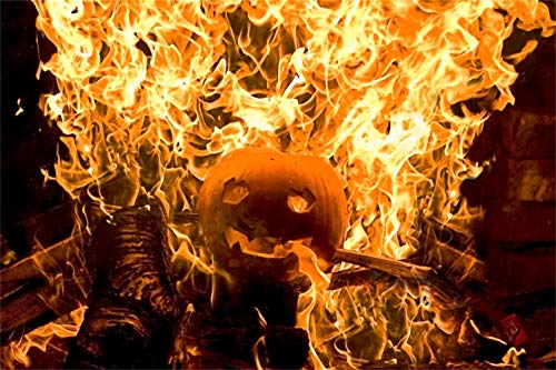 Yeele 7x5ft Halloween Backdrop Ghost in Fire Pumpkin Horror FIre Scene Photography Background Carnival Ghost Evil Party Decor Kids Adult Acting Show Photoshoot Props]()