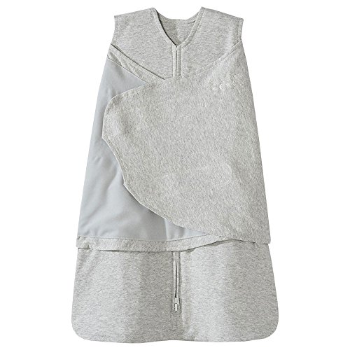 (Halo Sleepsack 100% Cotton Swaddle, Heather Gray, Small)