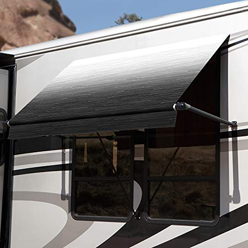 Carefree IN0456E00 Black Shale Fade 4.5' SL XL RV Window - Of Awnings Carefree Colorado