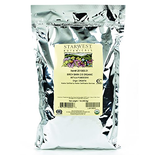 Starwest Botanicals Organic Birch Bark C/S , 1 Pound