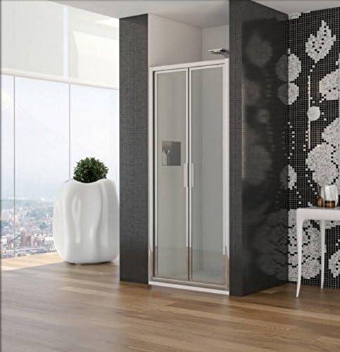Mampara de baño de vidrio hueco modelo Nilde-acrílico-plata pulido ...