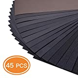 45-Sheet 80 To 3000 Grit Dry Wet Sandpaper 9 x 3.6 Inches for Dry or Wet Sanding, Metal Sanding and Automotive Polishing Wood Furniture Finishing - ASD07C