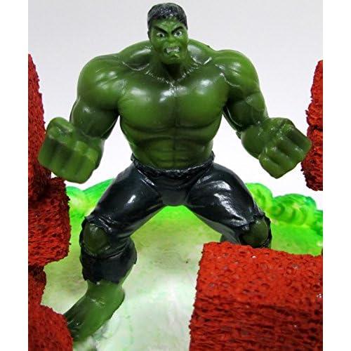 Super Hero Avengers INCREDIBLE HULK Birthday Cake Topper Set with