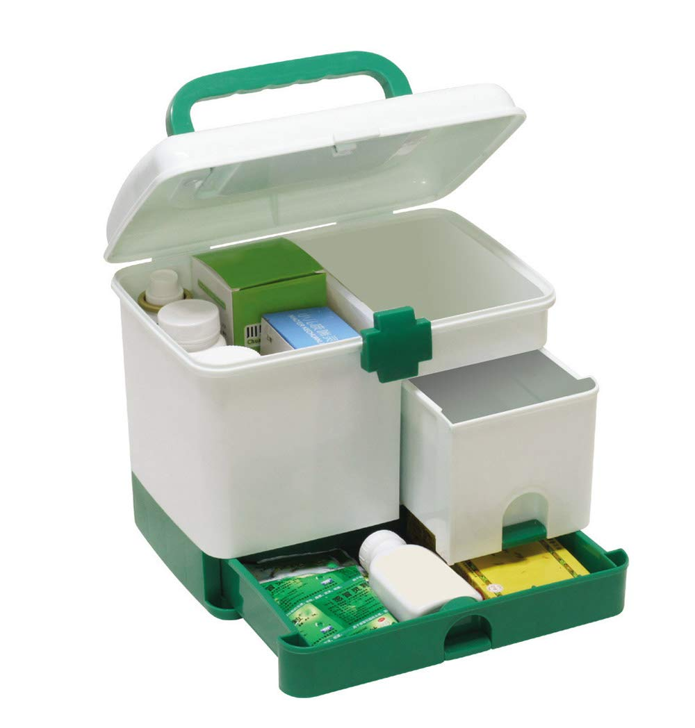 Denshine Household Medicine Box Multi-Layer First Aid Kit Big Capacity Drawers Medicine Cabinet Strong