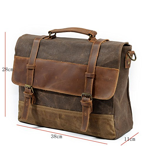 Retro Handbag Business Red Canvas Shoulder Bag Package Briefcase gray Waterproof Hmwhxw Messenger 1FwdBqnZqx