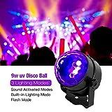 LED Disco Ball DJ Lights, 9W UV Disco Lights Strobe