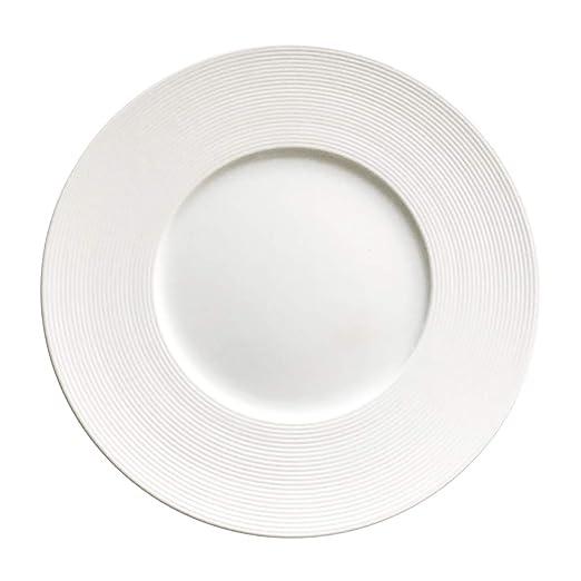 Bruno Evrard Solara - Plato Llano de Porcelana (27 cm, 6 Unidades ...