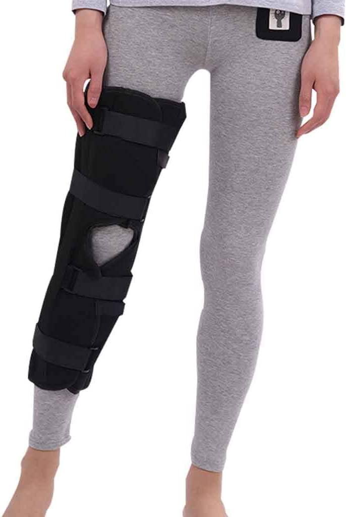 knee brace Apoyo ortesis de Rodilla Ortesis Donjoy Ajustable Estabilizador de rótula Abierto Protector de Rodilla para Hombre Mujer Corriendo Dolor de Rodilla Artritis Alivie la Carga Roscloud@