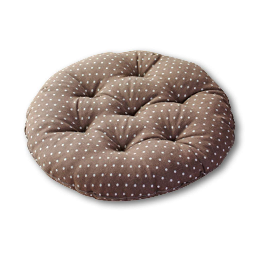 YOTHG Anti-wear Seat Cushion Floor Mat Japanese Tatami Floor Pillow Set Ideal Tatami Office Bay Window Car (Coffee Dot)
