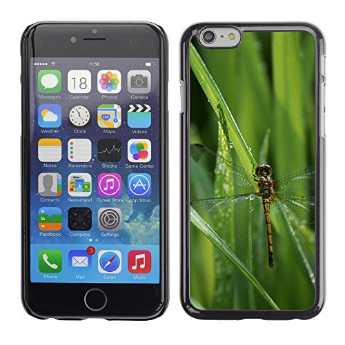 Premio Sottile Slim Cassa Custodia Case Cover Shell // V00003259 libellule dans l'herbe // Apple iPhone 6 6S 6G PLUS 5.5""