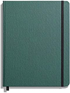 product image for Shinola Journal, HardLinen, Grid, Forest Pine (7x9)
