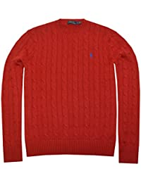 Polo Ralph Lauren Men's Pony Cable Knit Crewneck Sweater