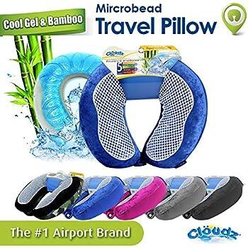Amazon Com Cloudz Memory Foam Cool Gel Amp Bamboo Travel