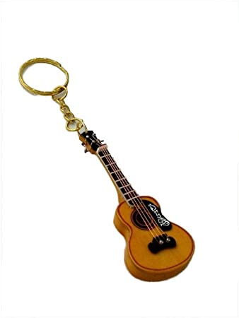 2503-4660-Llavero guitarra española miniatura 8 centimetros. Con ...