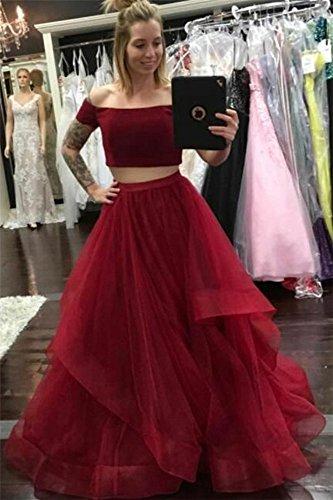 Dresses Shoulder CCBubble Off Dresses Piece Evening Purple 2 Prom 2018 Party zwwB7q1x