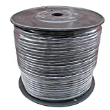 500 Ft Spool of Balanced Pro Audio Wire for XLR TRS 2 Conductor 3 with Shield (Black)