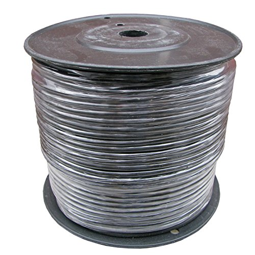 Wire 500' Spool - 500 Ft Spool of Balanced Pro Audio Wire for XLR TRS 2 Conductor 3 with Shield (Black)