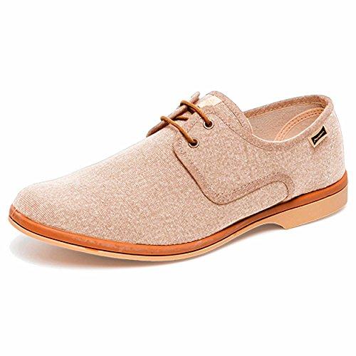 en Espagne Rétro Beige pour à la Maians Hommes Chaussure Calisto Main Les Fabriqué H1CpRqFw