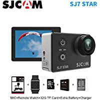 Sport Action Camera, Newest Original SJCAM SJ7 Star 1080P 4K Action Cam Waterproof Sport DV Camera, Black