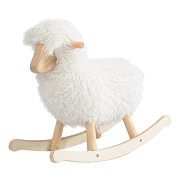 Enjoyable Jolie Vallee Toys Home Children Wooden Lamb Shaped Rocking Inzonedesignstudio Interior Chair Design Inzonedesignstudiocom
