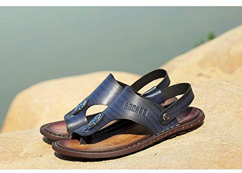 Sommer neue Männer Freizeit Sandalen Faser wasserdicht weichen Boden Dual Use Beach Schuhe, blau, UK = 7, EU = 40 2/3