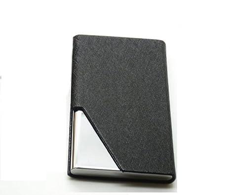 Nombre titular de la tarjeta, tyter lujo piel sintética & Multi tarjeta de acero inoxidable