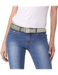 Women's Adjustable Stretch Belt, Stretch Slimming Belt, Adjustable Flat Belt, Slimming No Show