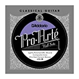 D\'Addario LCX-3B Pro-Arte Lightly Polished Silver Plated Copper on Composite Core Classical Guitar Half Set, Extra Hard Tension