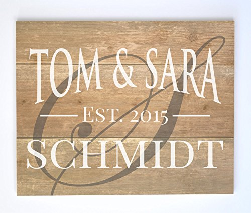 Personalized Family Name Sign Made from Pallet Wood The Archway