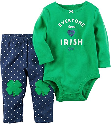 [Carter's Baby Girls 2 Pc Sets 119g167, Green, 12M] (St Patricks Day Shirts For Toddlers)